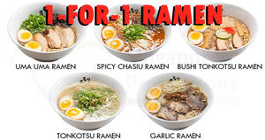 Uma Uma Ramen: 1-FOR-1 ramen all-day at Millenia Walk on 1 Dec 2017
