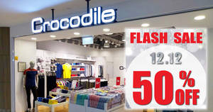 Crocodile: 50% OFF on all reg-priced items for one-day only on 12 Dec 2017