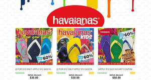 Havaianas: 60% OFF storewide coupon returns at their official eStore at Qoo10! From 10 – 12 Dec 2017