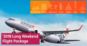 Jetstar: 7 exciting destinations for $2018 – Ultimate Long Weekend Flight Package! Apply from 11 Dec 2017