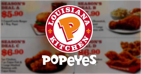 Popeyes NEW coupon feat 4 Dec 2017