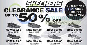 Skechers: Up to 50% OFF clearance sale at Safra Toa Payoh! From 7 – 10 Dec 2017