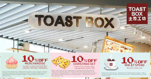 Toast Box: Flash these e-coupons to enjoy savings! Valid till 31 Dec 2017