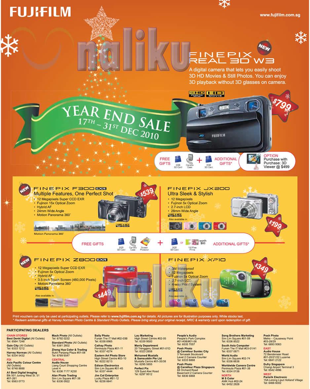 FujiFilm Singapore December 2010 FinePix Digital Cameras Christmas Promotion