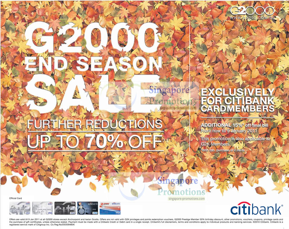 G2000 Year End New Year Sale