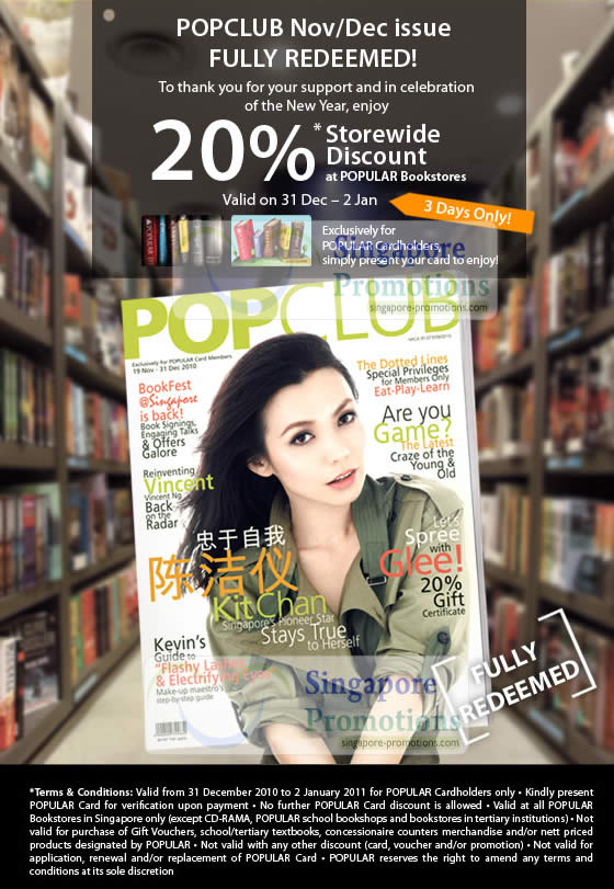 Popular 20 Storewide Discount