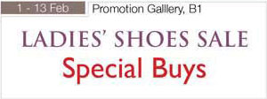 1 – 13 February 2011 Ladies Shoes Sale