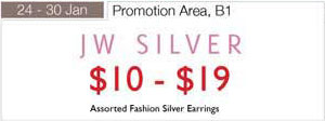 24 – 30 January JW Silver Fashion Silver Earrings