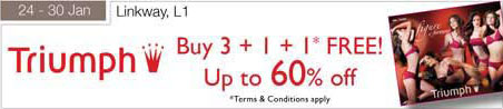 24 – 30 January Triumph Up to 60 Percent Off