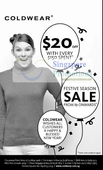 Coldwear Festive Season Sale January 2011