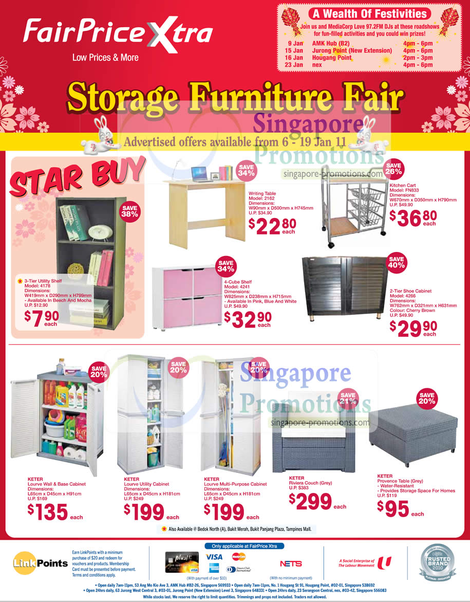 Fairprice Xtra Storage Furniture Fair January 2011