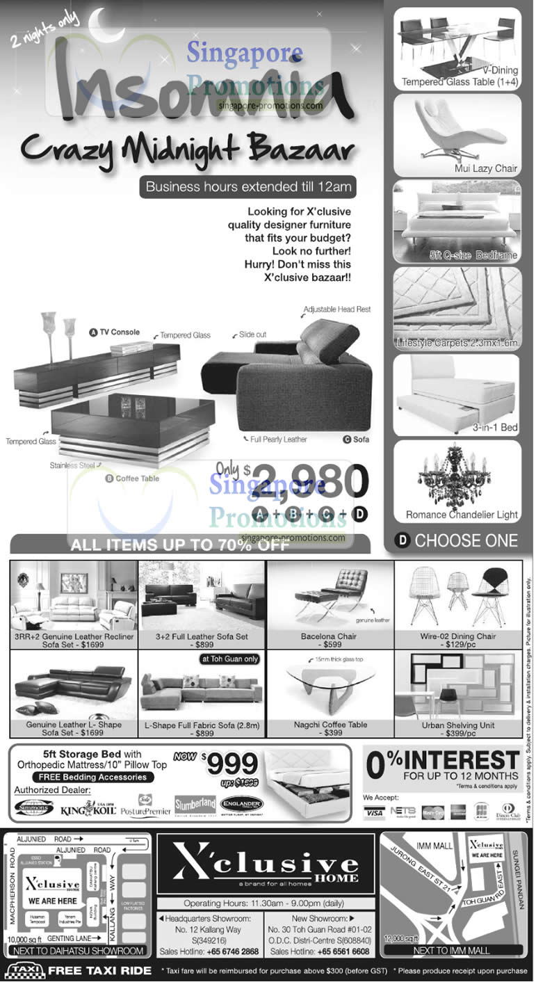 Xclusive 8 9 January 2011 Xclusive Home Furniture Sale Up To 70 Off 8 9 January 2011