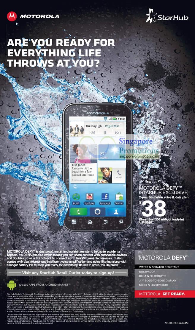 Motorola Defy Starhub