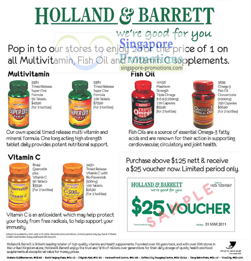Holland barrett healthy buys sale 23 27 feb 2011 for Fish oil for sale