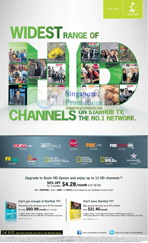 Basic HD Upsize Free 11 HD Channels