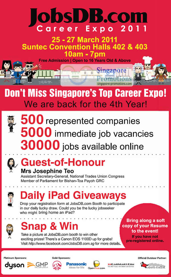 Jobsdb job fair aug 2018 singpromos jobsdb career expo 2011 job fair suntec 25 27 mar 2011 stopboris Image collections