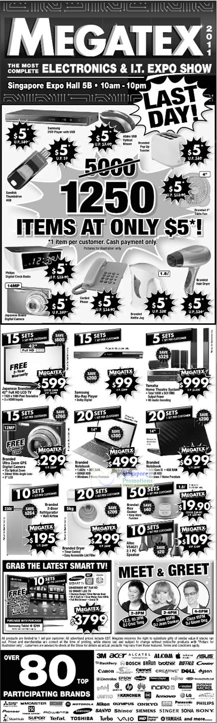24 Apr Limited Deals, Five Dollar Deals, Altec VS4621 Speaker, Rice Cooker, Digital camera, Notebooks