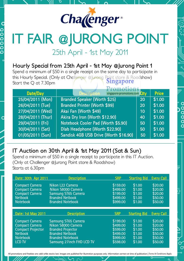 Challenger IT Fair Jurong Point 13 Apr 2011