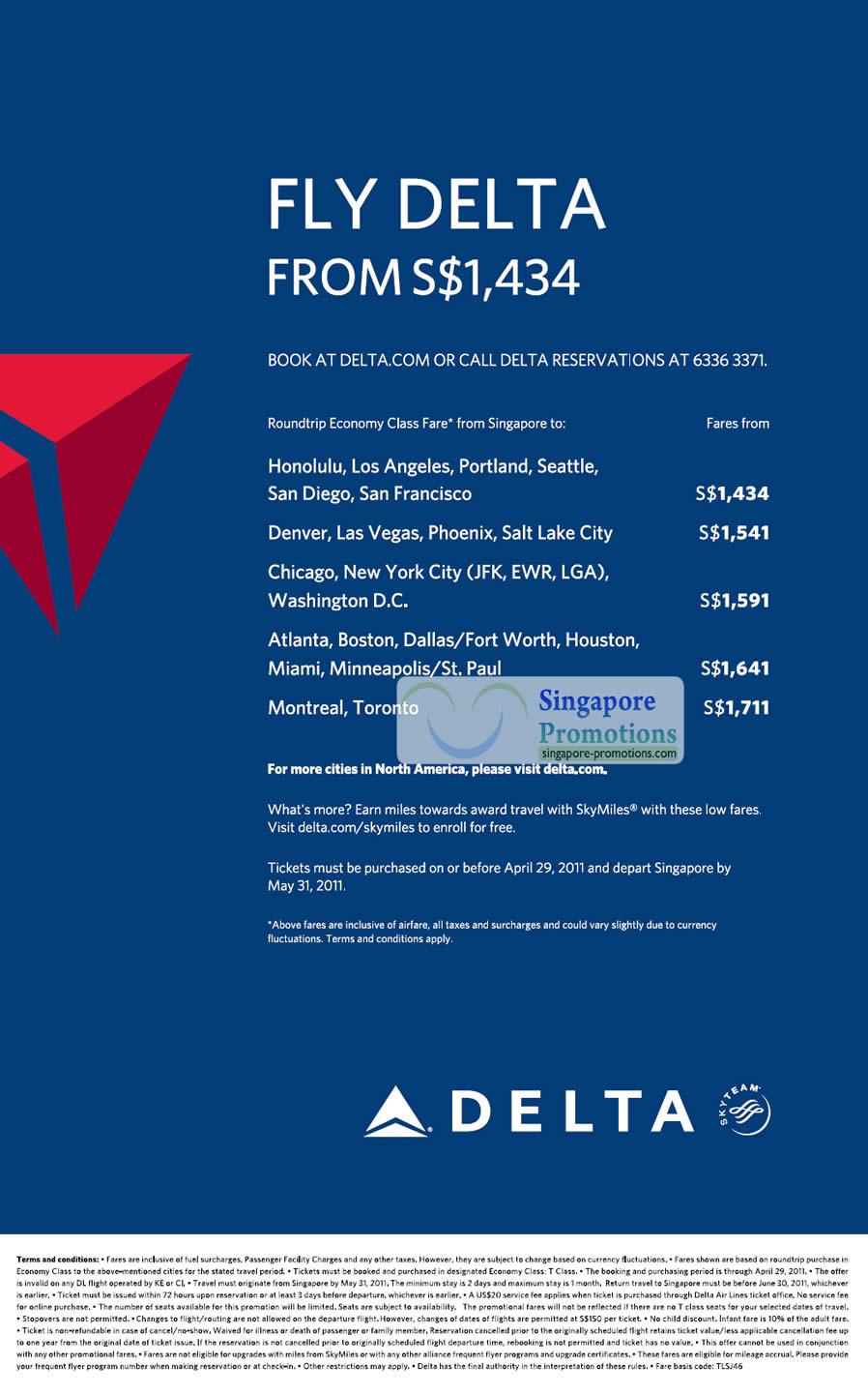 Delta Air Lines 20 Apr 2011