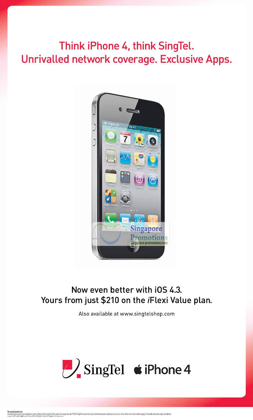 iPhone 4 Singtel iOS 4.3 iFlexi Value