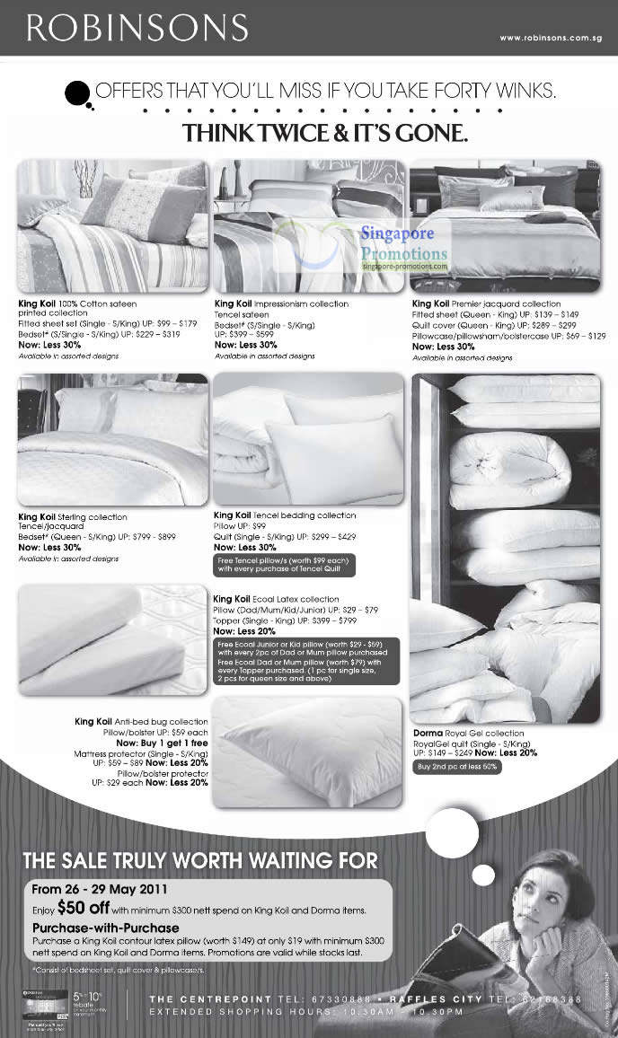 27 May Bed Linen, King Koil, Dorma, Sterling, Cotton, Impressionism, Premier, Jacquard, Tencel, Ecoal Latex, Anti-bed bug, Royal Gel
