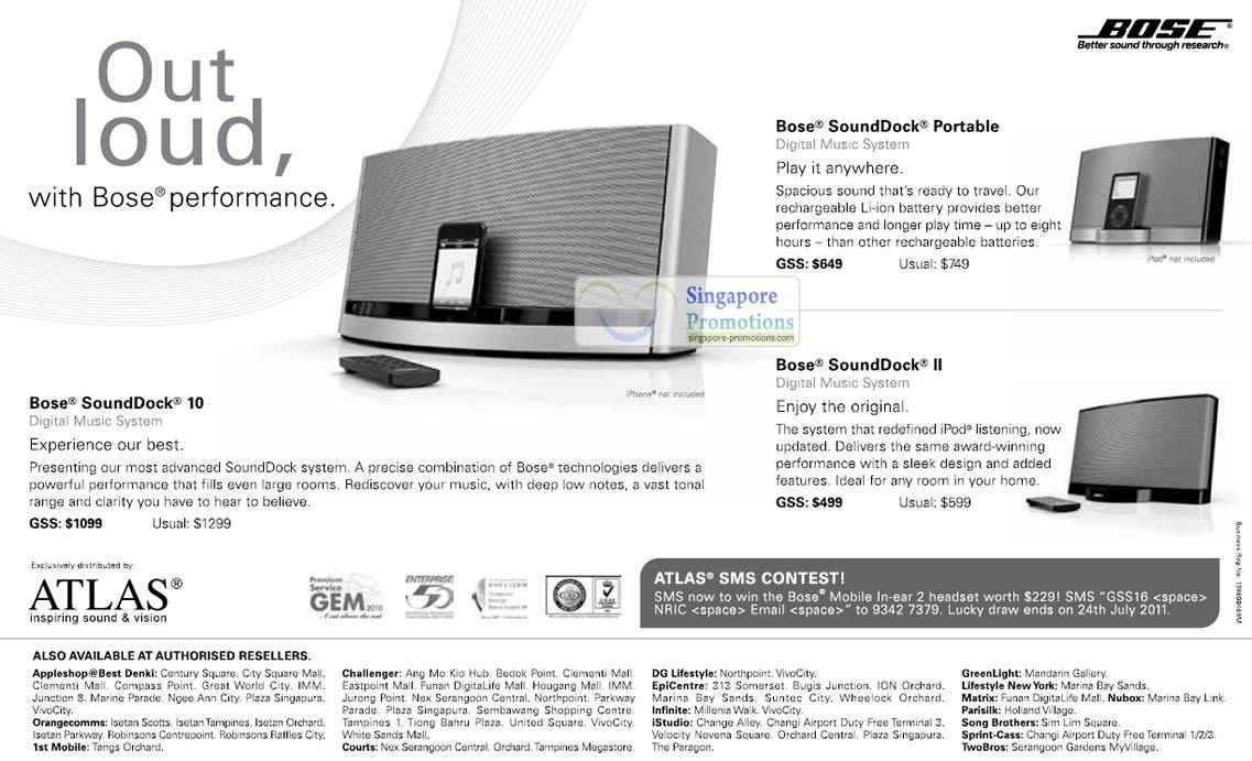 8 Jul Bose SoundDock Portable, SoundDock 10, SoundDock II