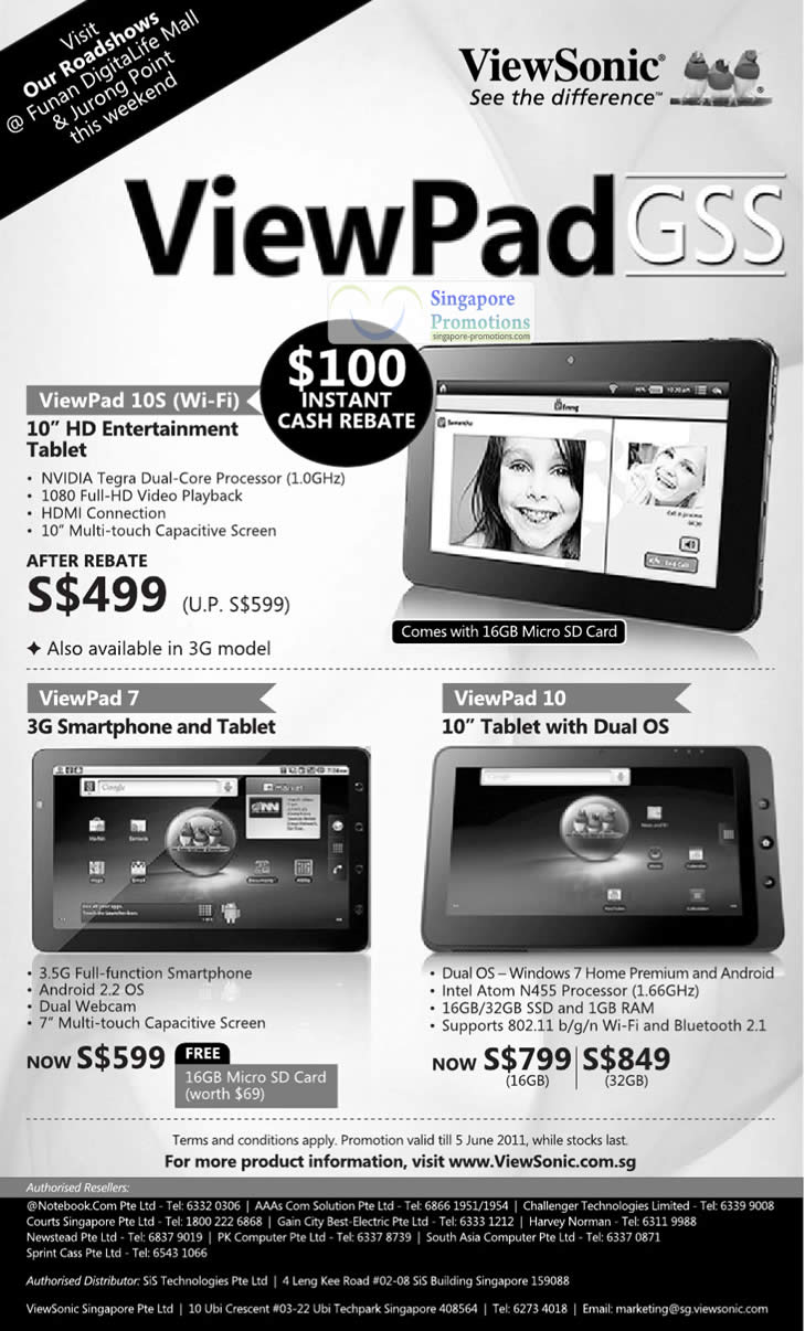 Viewsonic 18 May 2011 » Viewsonic Viewpad Tablets Great