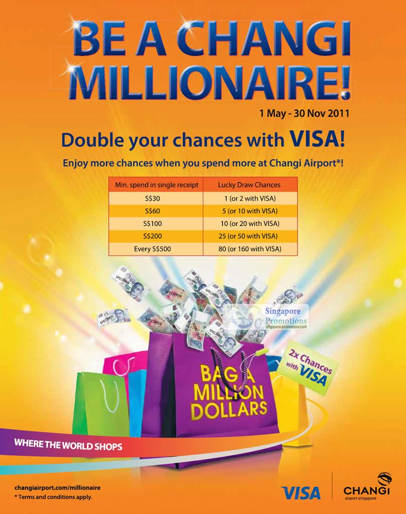 Changi Airport $1 Million Lucky Draw 1 May – 30 Nov 2011