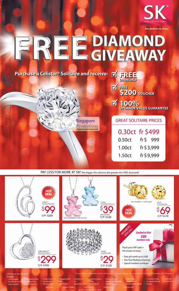 Sk Jewellery Celistar Diamond Ring Jul 2018 Singpromos Com