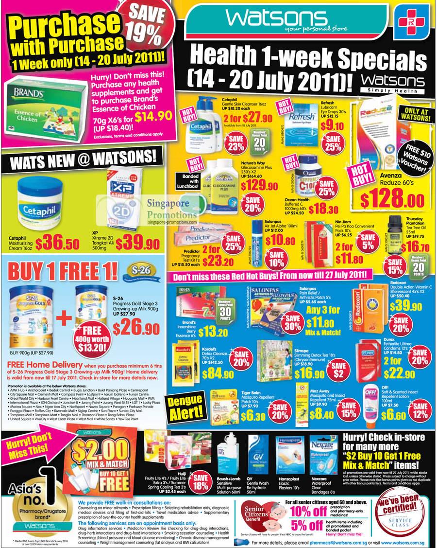 1 Week Specials, Brands Essence of Chicken, S-26, Mix N Match