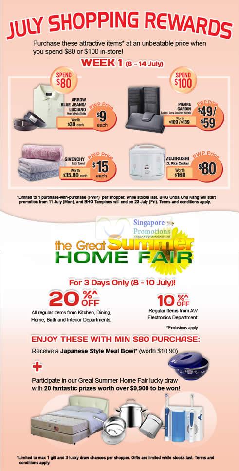 Bhg 8 jul 2011 bhg great summer home fair july for Bhg shopping
