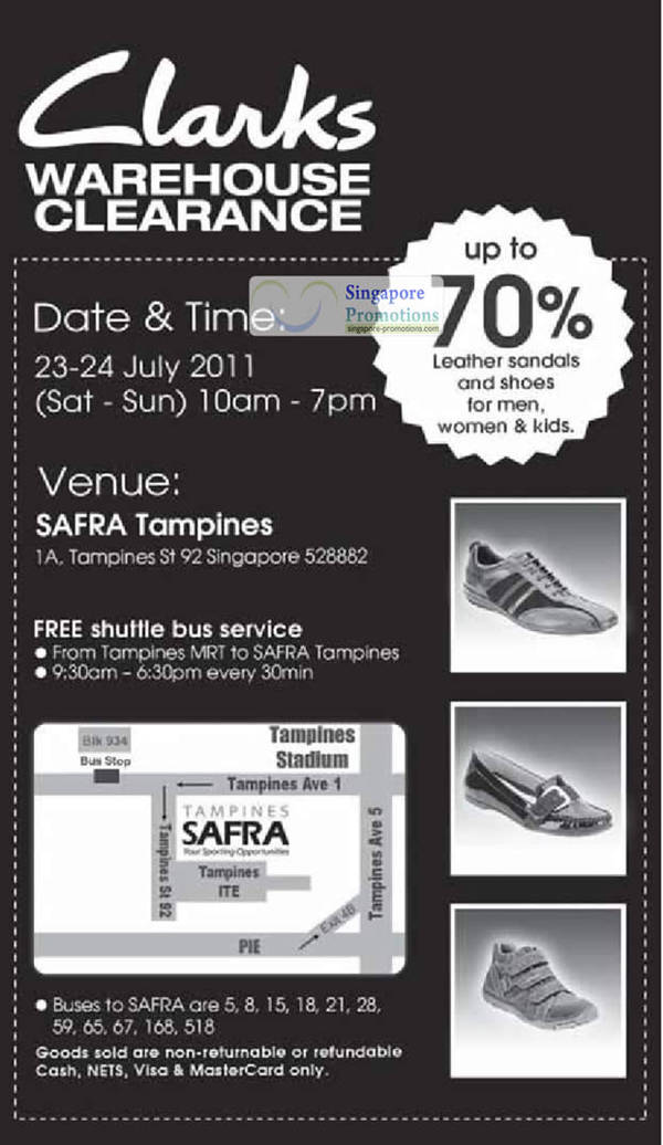 4875e3c0bf5f Clarks Warehouse Clearance Sale Up To 70% Off 23 – 24 Jul 2011