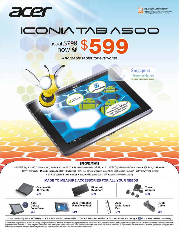 Tablet Iconia Tab A500