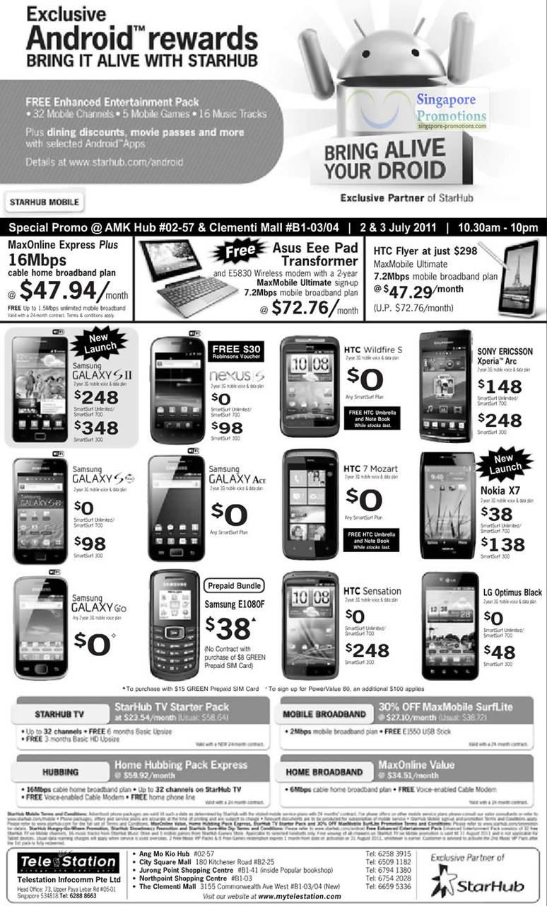 TeleStation Samsung Galaxy S II, Nexus S, HTC Wildfire S, Sony Ericsson Xperia Arc, Galaxy SS, Galaxy Ace, HTC 7 Mozart, Nokia X7, Galaxy Gio, Samsung E1080F, HTC Sensation, LG Optimus Black