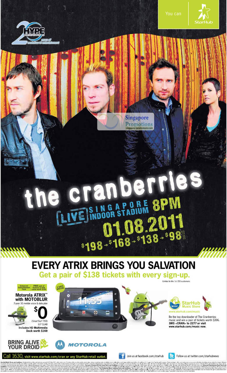 The Cranberries, Motorola Atrix Motoblur