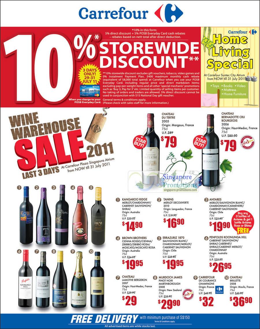 Wine Warehouse Sale 2011 Till 31 July 2011