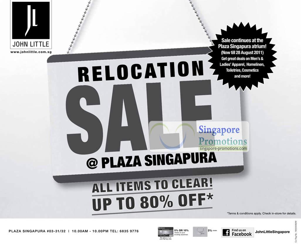12 Aug Relocation Sale Continues At Plaza Singapura Atrium Till 28 Aug 2011