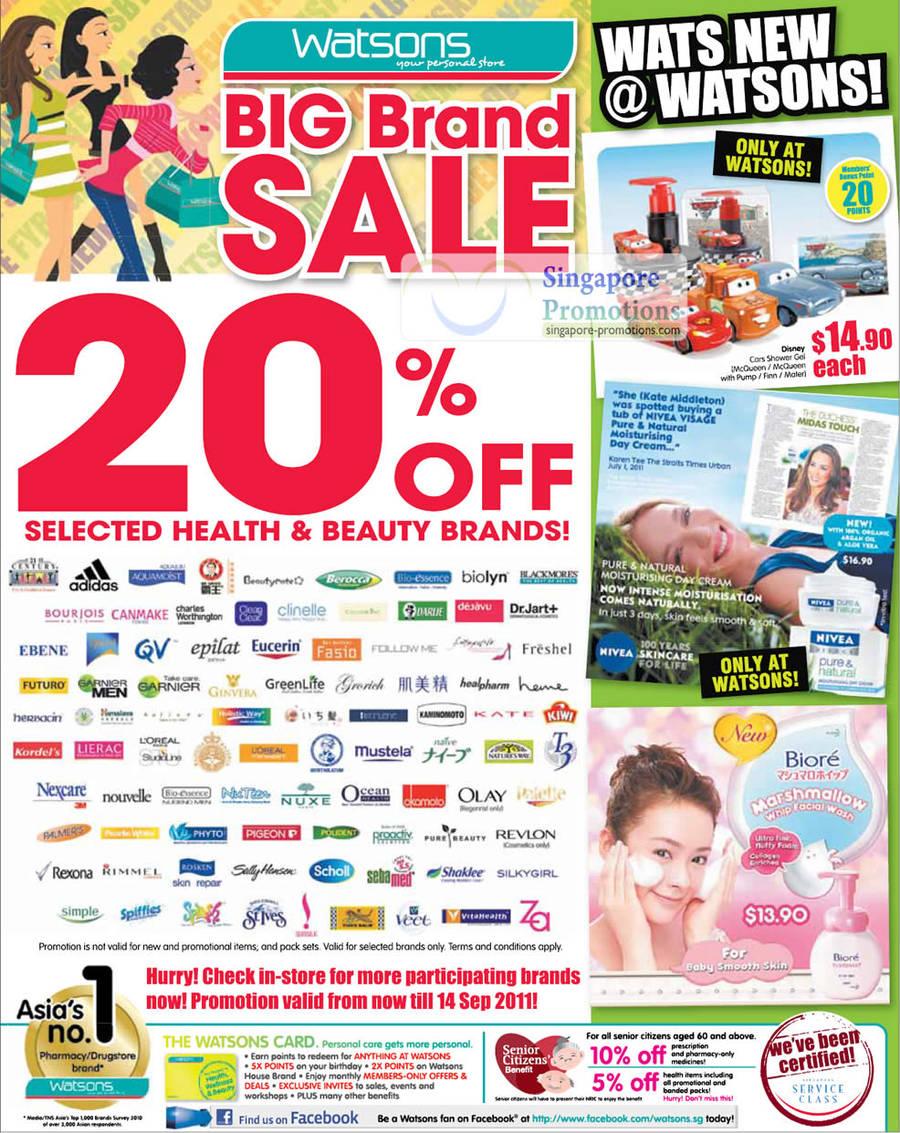 20 Percent Off Selected Brands