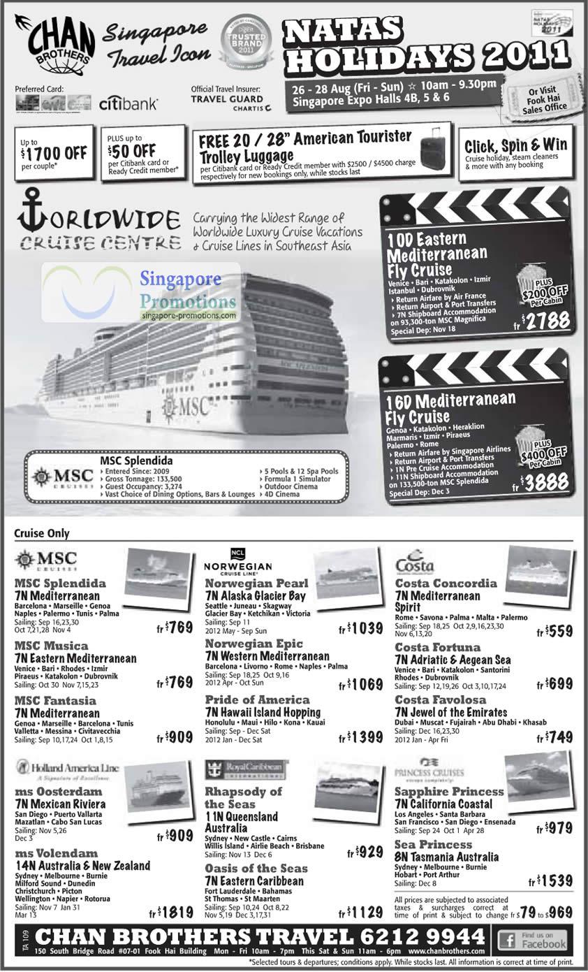 23 Aug Chan Brothers Cruise » NATAS Holidays 2011 Travel