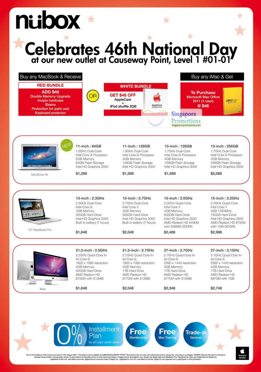 Apple Macbook Notebooks, AppleCare, MacBook Air, MacBook Pro, iMac Desktop PC