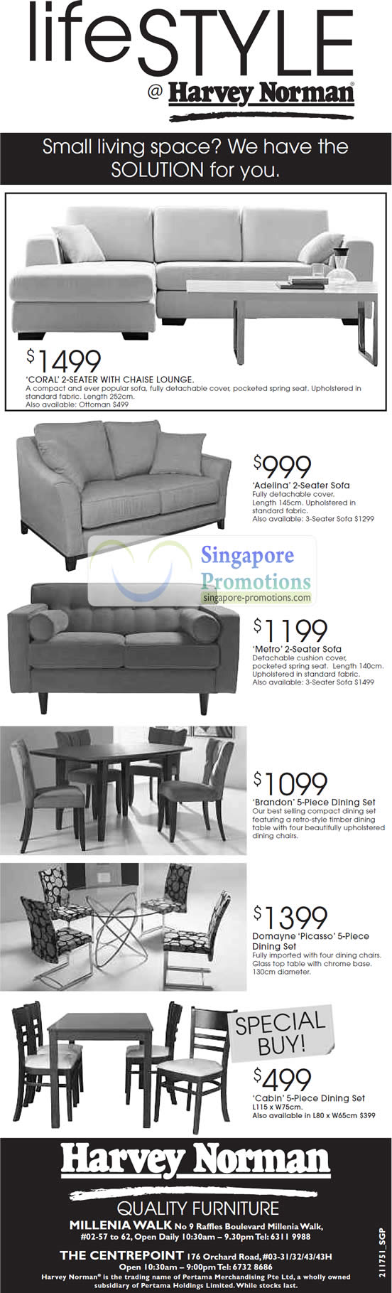 Furniture Coral Chaise Lounge Seater Sofa Adalina Metro