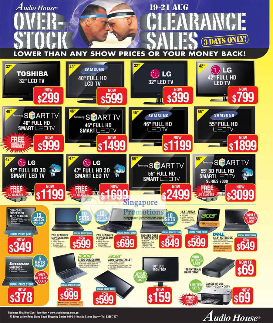 LCD, LED TV, Toshiba, LG, Samsung, Notebooks, Acer 5750G, A500 Iconia Tablet, Dell, A0722, Canon MP-258 Printer, Lenovo