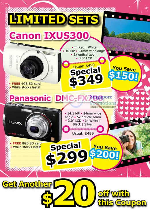 Limited Sets Canon Ixus300 and Panasonic DMC-FX700 Special Offer