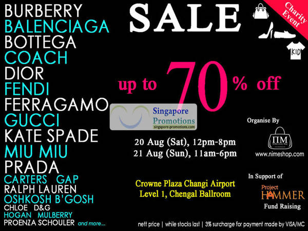 Nime Branded Handbags Footwear Kids Apparel Up To 70 Off Changi Airport 20 21 Aug 2011