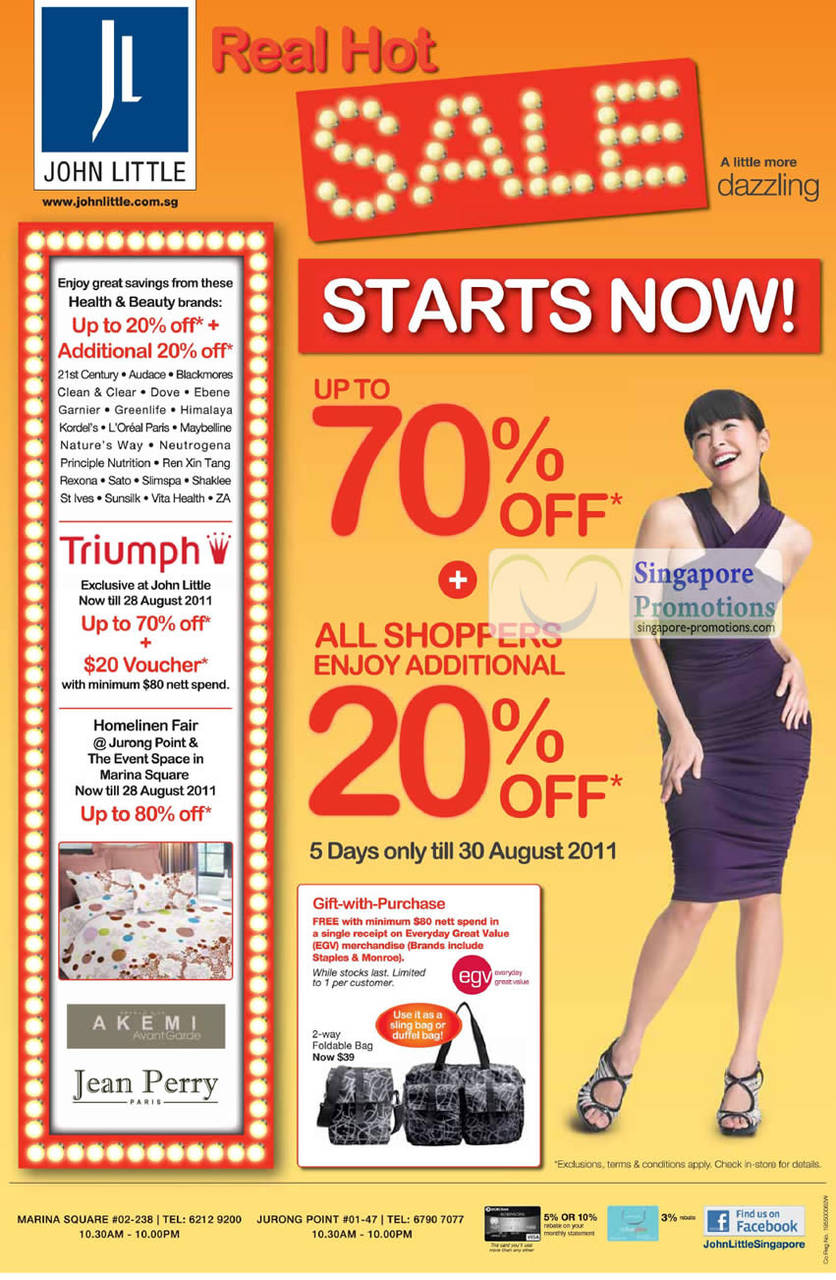 Real Hot Sale Up To 70 Percent Off, Participating Brands