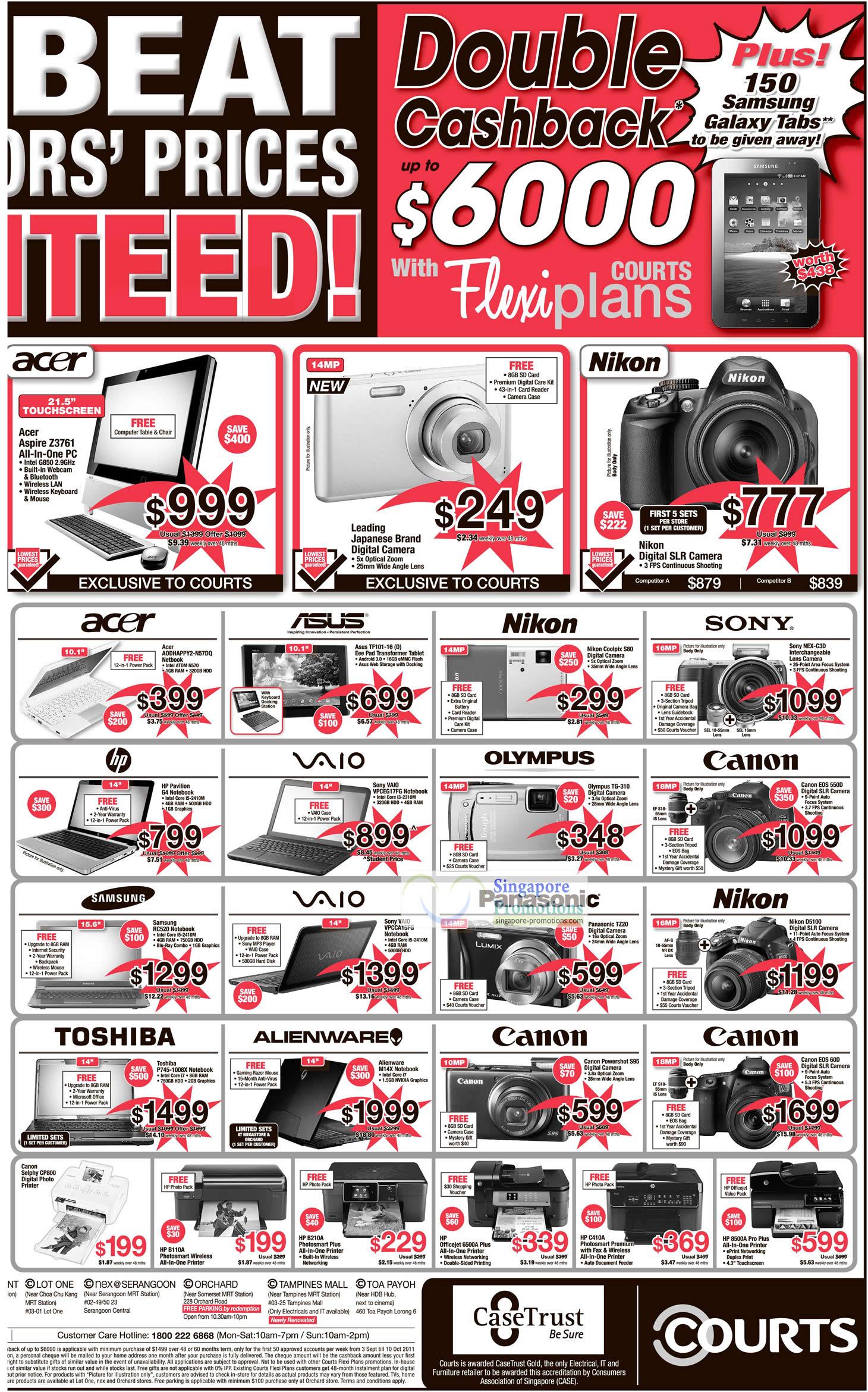 17 Sep Canon Selphy CP800 Printer, HP B110A, Acer Aspire Z3761 AIO Desktop PC, Sony NEX-C3D Interchangeable Lens Camera, Nikon Coolpix S80