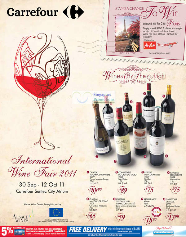 Featured image for Carrefour International Wine Fair Special Offers 30 Sep – 12 Oct 2011