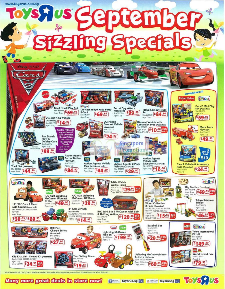 Cars 2 Disney Pixar, Mack Truck Play Set, Tokyo Race Party, Action Agents, Vehicle, Imaginext Fisher Price Vehicle, Klip Kitz, Baseball, Lego, Wood, Talkie Walkie