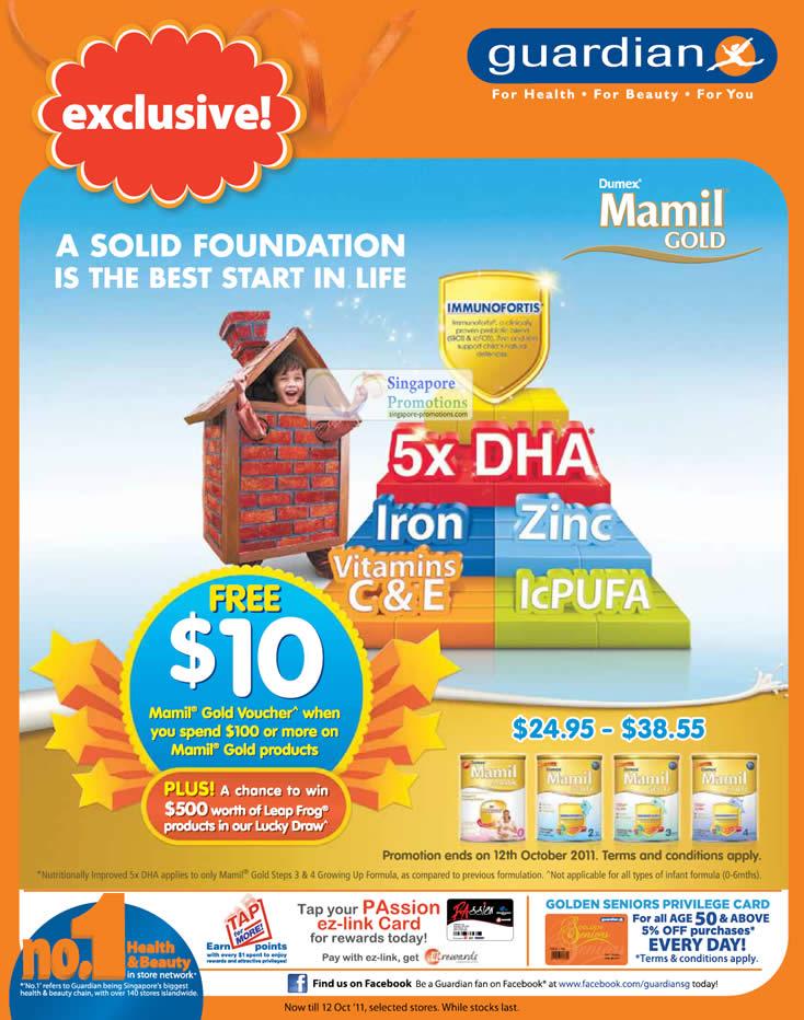 Dumex Mamil Gold Free 10 Dollar Voucher When You Spend 100 Dollars