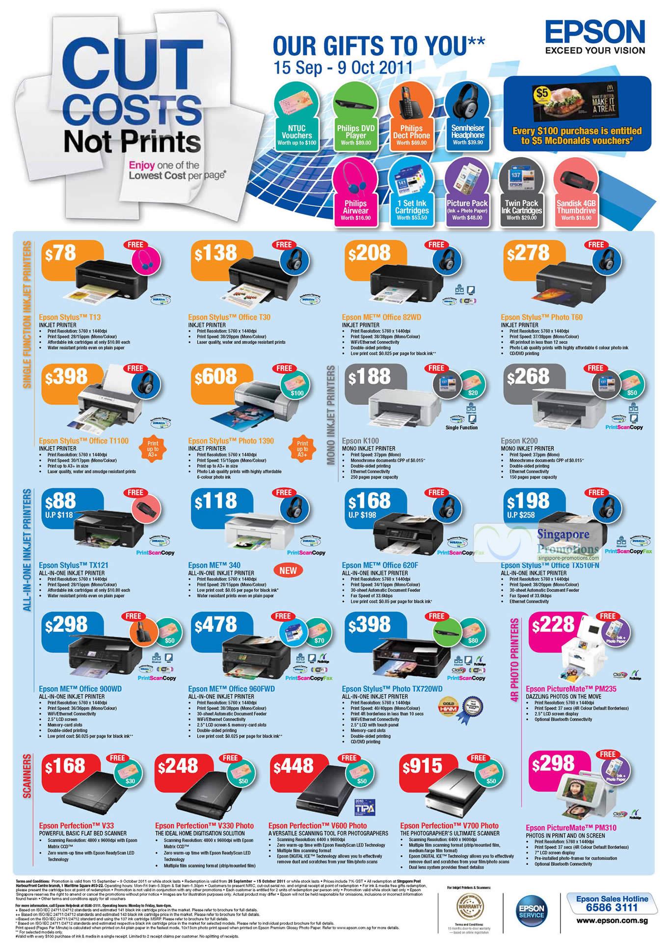 Epson Printers Scanners 19 Sep 2011